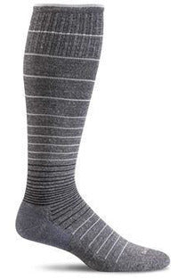 Women's Circulator | Graduated Compression Moderate 15-20mmHg SW1W Therapeutic Compression Socks Sockwell S/M Charcoal MERINO WOOL/BAMBOO/NYLON/SPANDEX