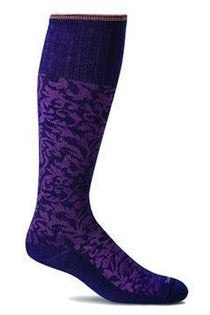 Women's Damask | Graduated Compression Moderate 15-20 mmHg SW16W Therapeutic Compression Socks Sockwell S/M Concorde Merino Wool/Bamboo/Nylon/Spandex
