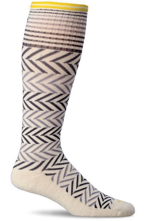 Women's Chevron | Graduated Compression Therapeutic Compression Socks Sockwell S/M Natural Merino Wool/Bamboo/Nylon/Spandex