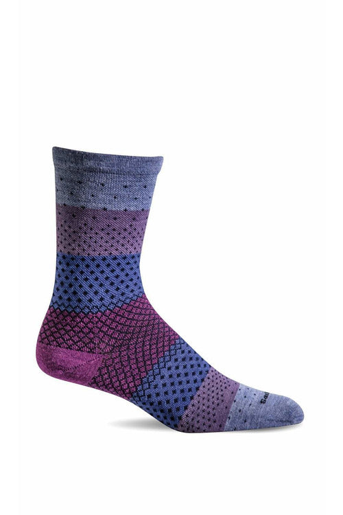 Sockwell Seasonal Socks S/M / Lilac / MERINO WOOL/BAMBOO/NYLON/SPANDEX Women's Plantar Ease Crew | Graduated Compression 15-20mmHg SW72W