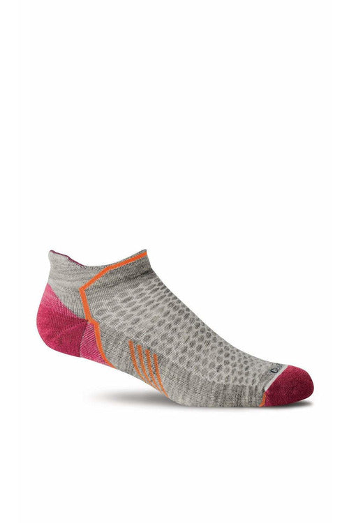Women's Incline Micro | Graduated Compression Moderate 15-20 mmHg PA6W Therapeutic Compression Socks Sockwell S/M Lt. Grey MERINO WOOL/BAMBOO/NYLON/SPANDEX