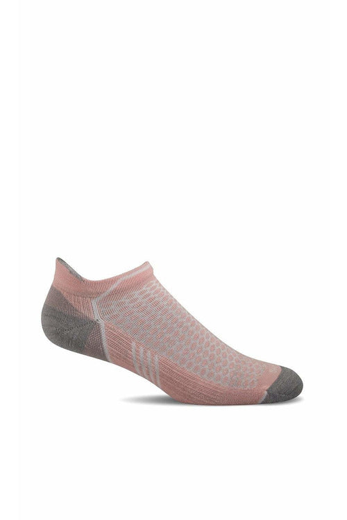 Women's Incline Micro | Graduated Compression Moderate 15-20 mmHg PA6W Therapeutic Compression Socks Sockwell S/M Rose MERINO WOOL/BAMBOO/NYLON/SPANDEX