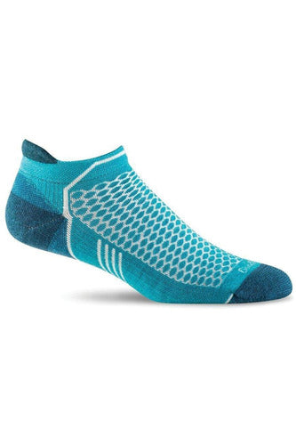 Women's Incline Micro | Graduated Compression Moderate 15-20 mmHg PA6W Therapeutic Compression Socks Sockwell S/M Turquoise MERINO WOOL/BAMBOO/NYLON/SPANDEX