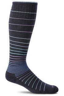 Women's Circulator | Graduated Compression Moderate 15-20mmHg SW1W Therapeutic Compression Socks Sockwell S/M Navy MERINO WOOL/BAMBOO/NYLON/SPANDEX