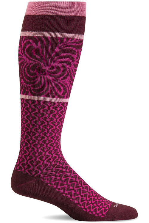 Sockwell Seasonal Socks S/M / Port / add Ladies Art Deco | Graduated Compression 15-20mmHg SW48W