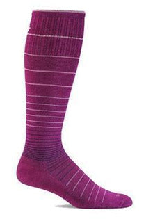 Women's Circulator | Graduated Compression Moderate 15-20mmHg SW1W Therapeutic Compression Socks Sockwell S/M Violet MERINO WOOL/BAMBOO/NYLON/SPANDEX