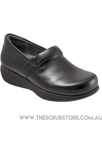 Grey's Anatomy Meredith Sport - Black Box - Softwalk G1700-006 Shoes The Scrub Store 6 Black Leather Upper