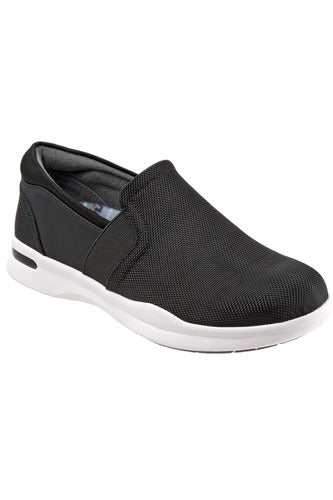 Grey's Anatomy Vantage - Black Ballistic - Softwalk G1600-077 Shoes The Scrub Store 6 Black/White Synthetic Upper