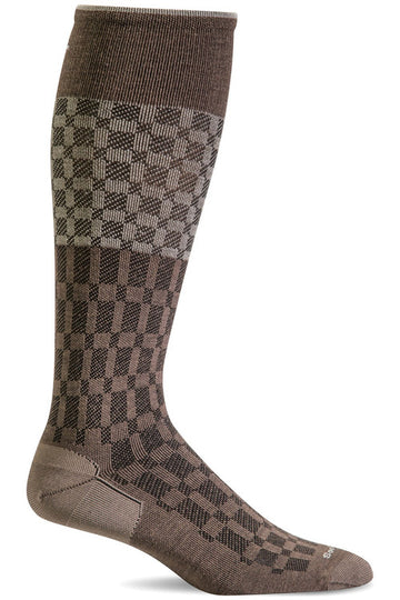 Men's Checkmate | Graduated Compression Socks 15-20mmHg Moderate Graduated Compression SW37M