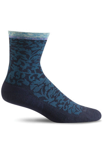 The Scrub Store Seasonal Socks S/M / Navy Ladies Plantar Crew Cush| Graduated Compression 15-20mmHg SW32W
