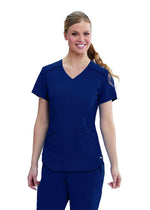 The Scrub Store XS / 23 Indigo Ladies Avana Scrub Top