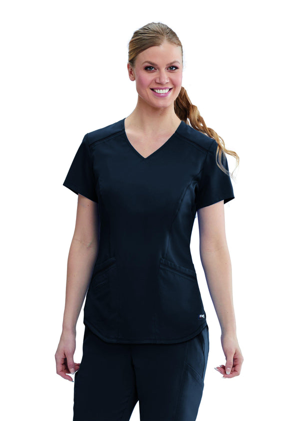The Scrub Store XS / 905 Steel Ladies Avana Scrub Top