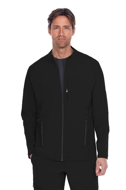 The Scrub Store Scrub Top XS / Black / 93% Poly / 7% Spandex Barco One Wellness - Men's Mock Neck Jacket BWW902