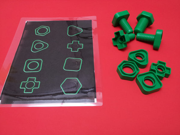 Jumbo Nuts And Bolts Activity Color Size Shapes And