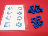 Jumbo Nuts and bolts activity, color, size, shapes and fine motor skills