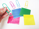 Jumbo color paperclip matching