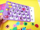 Multi skill activity foam apple puzzle: color match, number recognition and match, alphabet match
