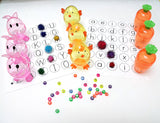 I Spy game alphabet letter beads