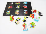 SIlhouette matching, eraser farm puzzle activity