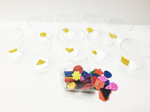 Shape button sorting activity set