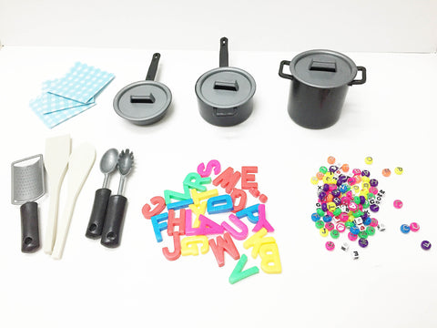 Alphabet soup accessories: plastic letters