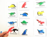 Mini foam zoology silhouette match activity with cards, sensory and encyclopedic