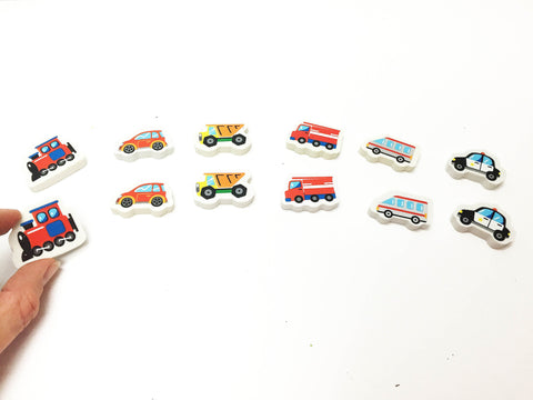 Vehicles eraser matching busy bag