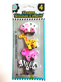 Mini animal eraser  puzzles, introduction to animal motion/anatomy