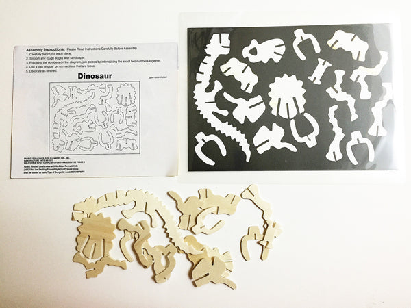 Dinosaur 3d wooden puzzle and matching activity, fine motor skills and eye coordination