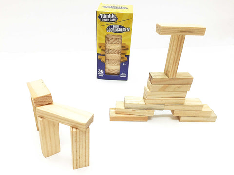 Tumble tower mini wooden set