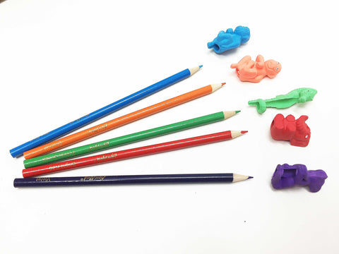 Animal eraser pencil tops color match