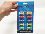 JUMBO pushpins 10 ct