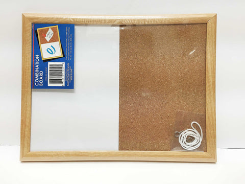CORK plus DRY ERASE Bulletin Board, 8x11