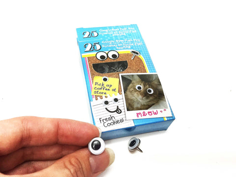 Googly Wiggly Eye push pins