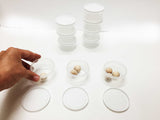 Mini plastic containers with lids, 10 ct.