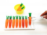 Montessori carrot placing transferring activity