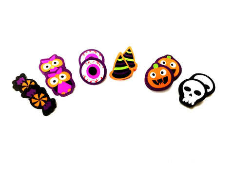 Halloween eraser matching activity