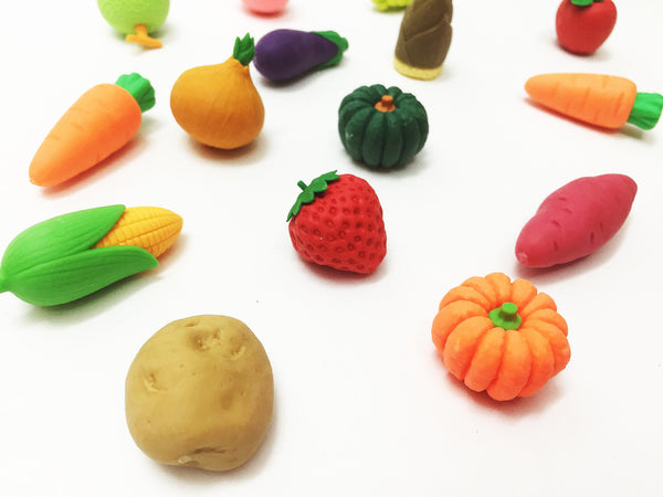 Erasers: Fruits and Vegetables mini
