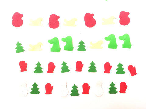 Christmas theme foam sticker shapes