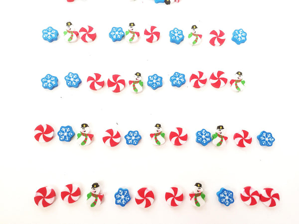 Winter Christmas themed  mini erasers counters