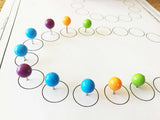 Ball top colored pushpins
