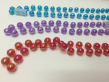 Montessori bead counting and cutting activity