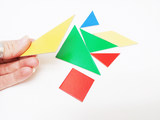 Tangram activity with cards