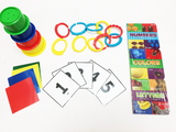 Early development activity set, color match, number, stacking, connecting, counting, shapes, board books