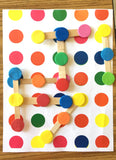 Color dots links Logic game