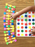 Color dots links Logic game PDF