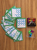 IQ CURVES puzzle brain teaser busy bag with laminated cards