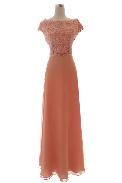 Rent : Peaches Pinkish - Peach Chiffon Dress