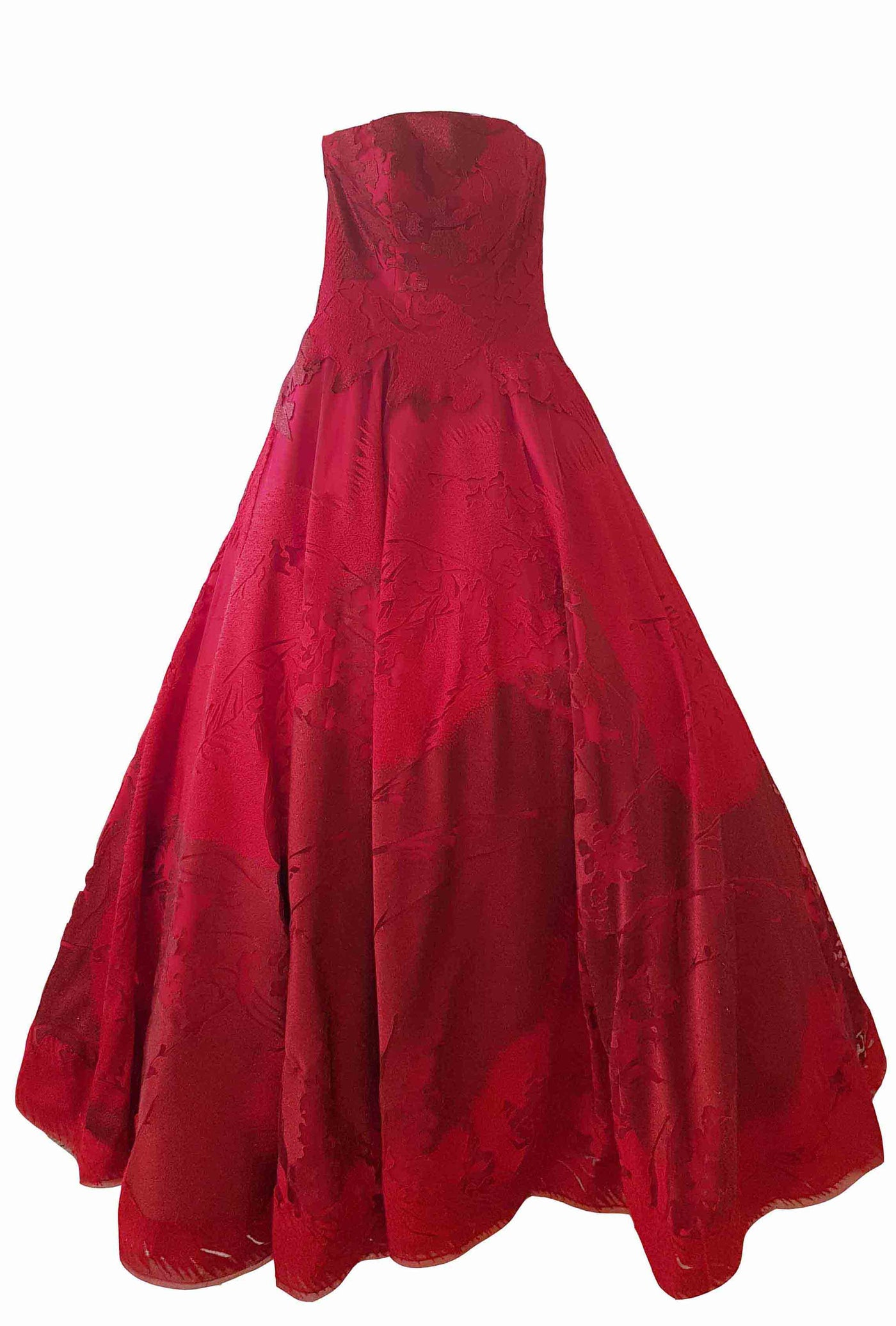 Rent: Hian Tjen Red Flower Ball Gown