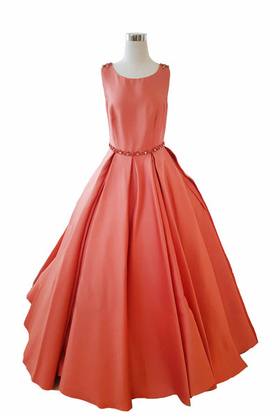Rent: Cinobi - Sleeveless Beaded Waist Ball Gown with Pockets